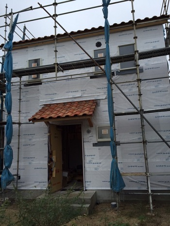 外壁のシート施工