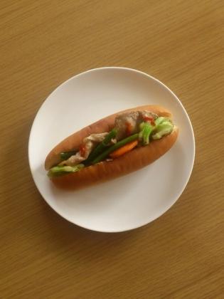 肉野菜炒めドッグb