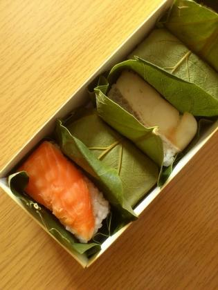 奈良中谷本舗柿の葉寿司4