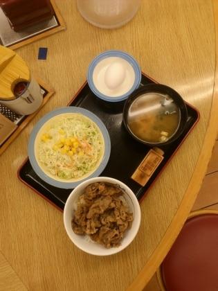 松屋プレミニ牛飯生野菜生玉子セット2