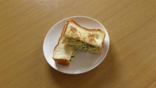 玉子(ピーマン)トースト