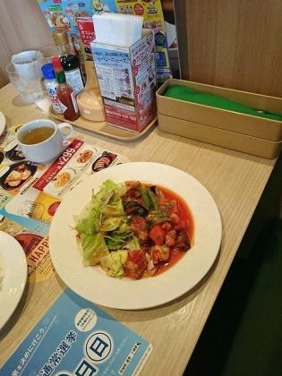 ガストチキンと野菜のトマト煮ランチ(ライス少なめ)2