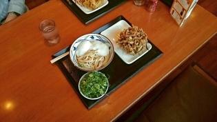丸亀製麺とろ玉うどん(並)(温)、黒ごまほくほくかき揚げ3