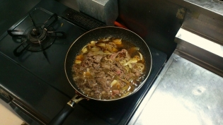 牛肉かた切落し(オーストラリア産)(小)で牛めし3