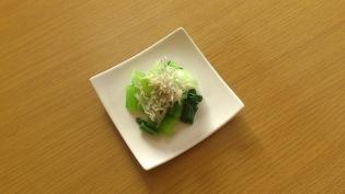 茹で小松菜とじゃこ