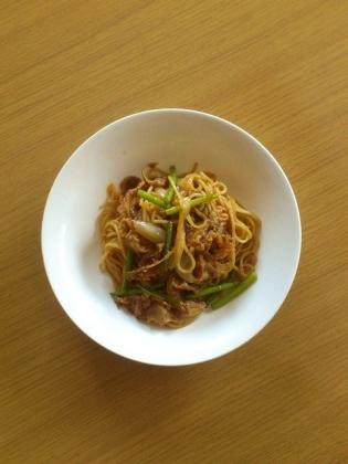 牛焼肉スパゲッティ1