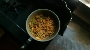 牛焼肉スパゲッティ2