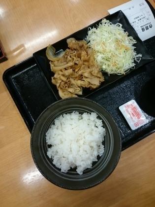 吉野家生姜焼定食(並)(軽)2