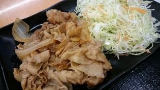 吉野家生姜焼定食(並)(軽)4