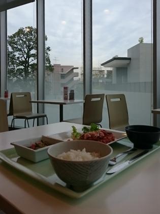 A定食(チキンソテー野菜ソース)小鉢(にんにくの芽とこんにゃくの味噌炒め)3