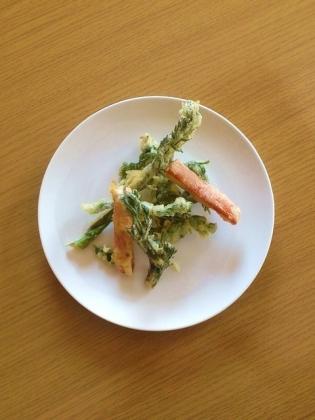 天ぷら、ソーセージ