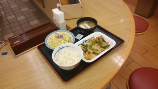 松屋豚バラ大根定食(並)(ミニ)4