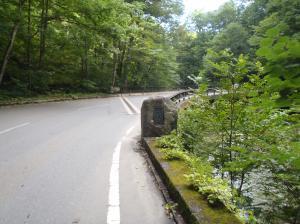奥入瀬渓流に架かる馬門橋