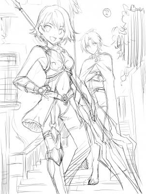 魔法剣士3ラフ