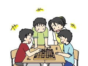将棋で遊ぶ人たち