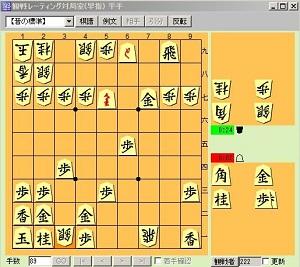 将棋倶楽部24対局盤面