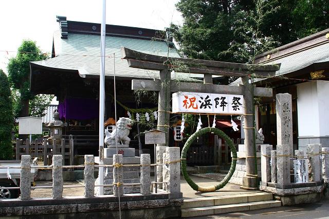 高田 熊野神社 茅の輪くぐり