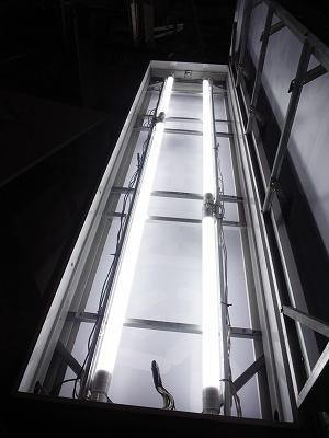 LED蛍光灯タイプ点灯試験