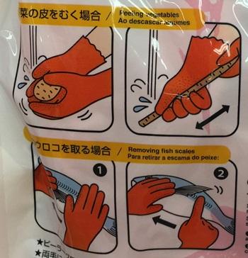 皮むき手袋説明図