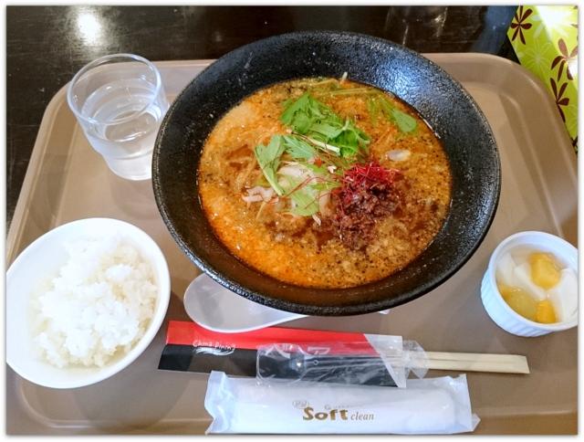 青森県 弘前市 1コインランチ ワンコインランチ ランチ グルメ ブログ 写真 チャイナダイニング ベア 担々麺セット