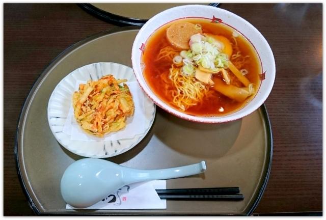 青森県 弘前市 岩木 あねっこ レストラン こざくら かき揚げラーメン ランチ グルメ 写真