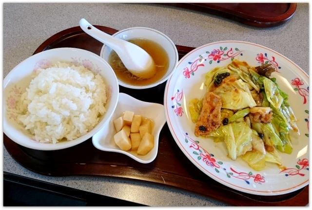 青森県 弘前市 ランチ グルメ 回鍋肉定食 豚珍館 トンチンカン 写真