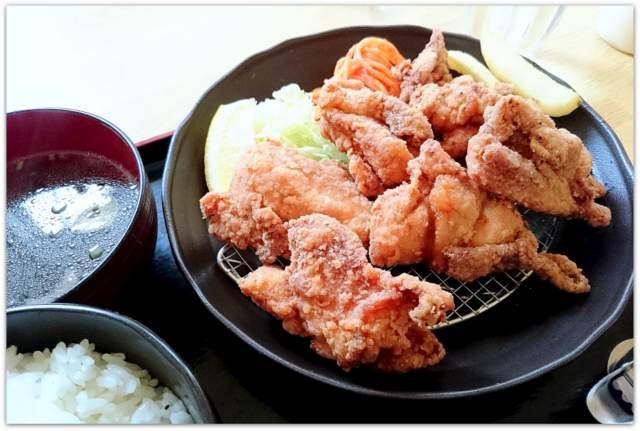 青森県 弘前市 ランチ グルメ から揚げ ふじや からあげ 弘前店 レモン塩 定食 和風 写真