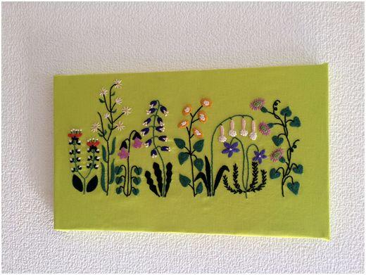 刺繍 花畑mini