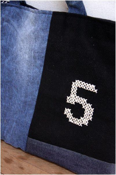 デニムバッグ 刺繍原寸mini