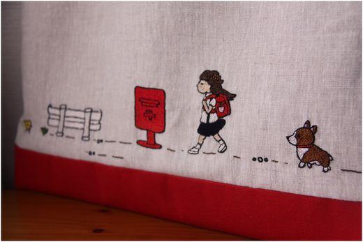 春花刺繍バッグ刺繍1mini