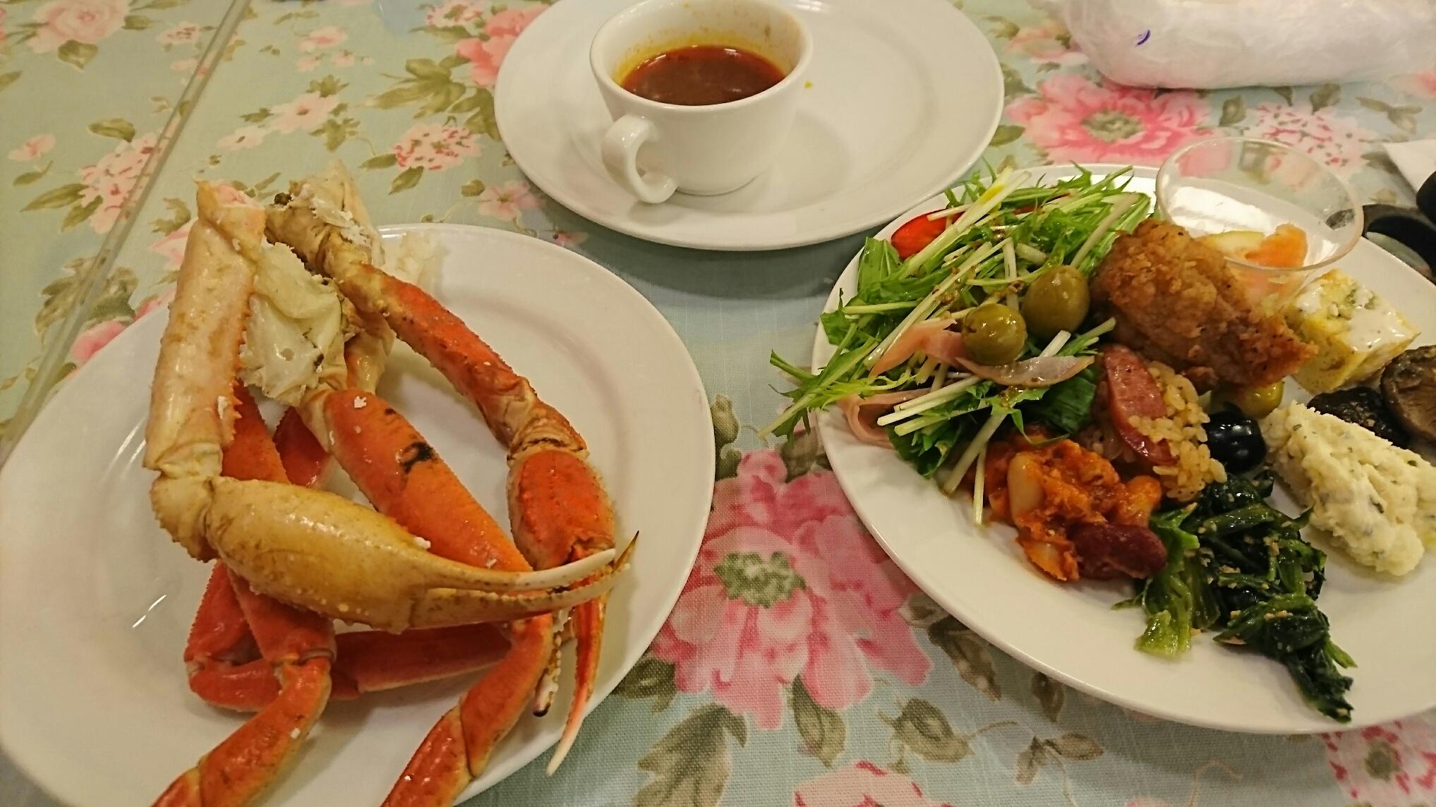 蟹、前菜、スープ