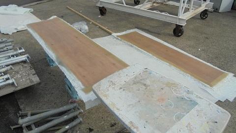 FRP5枚×2、プレーにングボード