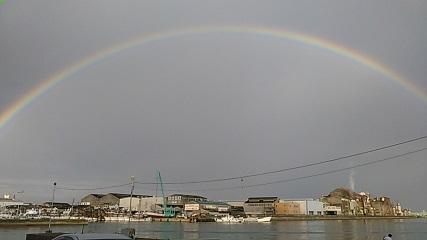 岸和田の虹