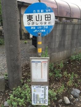 東山田バス停(古河駅行)