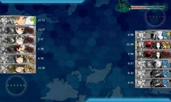 2-5夜戦終了 第十九駆逐隊任務