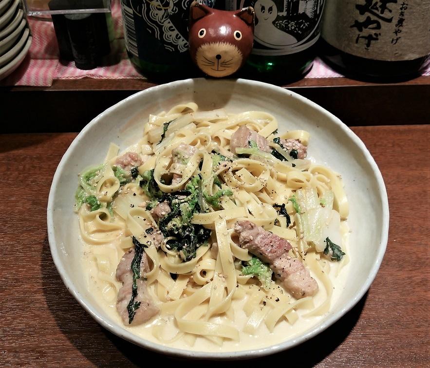 20161129 四元豚と白菜のタレッジョクリームフェトチーネ