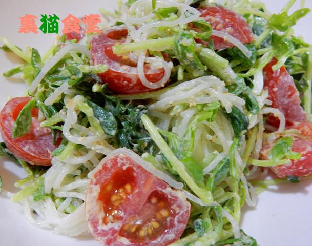 8月2日トマトと春雨のサラダ