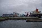 客船と輸送船