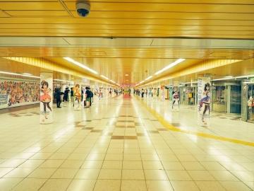 デレステ1周年_渋谷駅