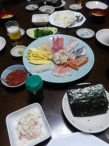 16 12/22 手巻き寿司