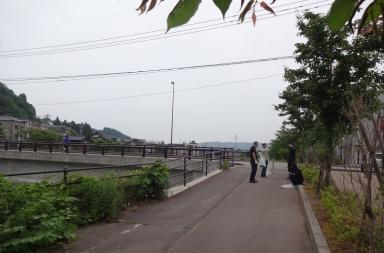 ゴールまであとわずか。下田上橋付近で
