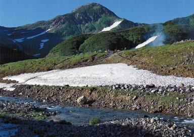 夏山登山の浄土山(2831m)