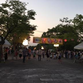太陽が丘4町会の盛大な夏祭り