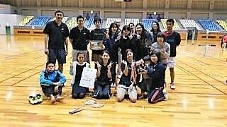 健闘の田上バトミントンチーム