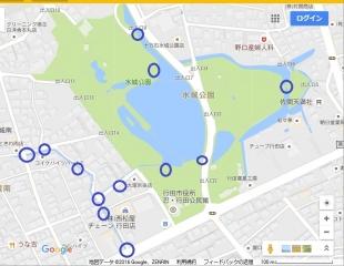 ポケモンGO 水城公園のミニリュウ出現場所