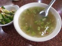榨菜肉絲湯と小菜161212