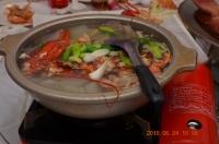 カニとアサリのショウガスープ160624
