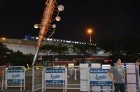 夜も試運転中のMRT空港線160721