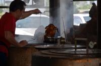 丸鶏の窯焼き160916