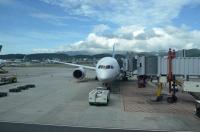 最新鋭B787旅客機161019